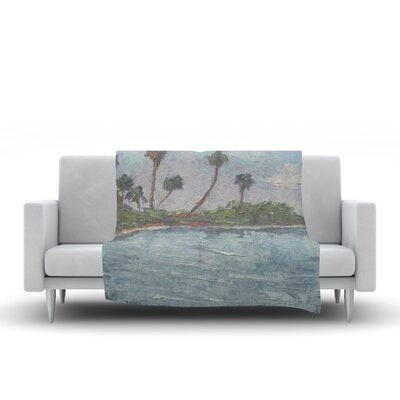 Lagoon Throw Blanket Size: 60 L x 50 W