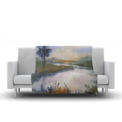 Florida Marshland Throw Blanket Size: 80 L x 60 W