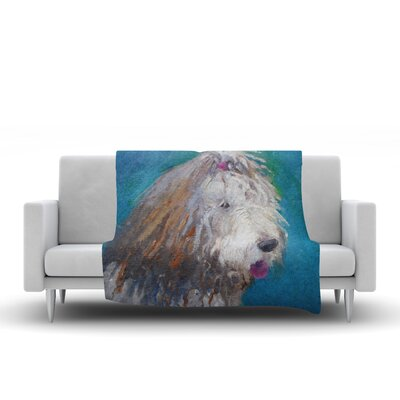 Shaggy Dog Story Fleece Throw Blanket Size: 80