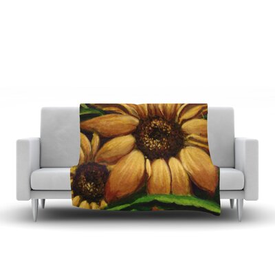 Sunflower Days Throw Blanket Size: 90 L x 90 W