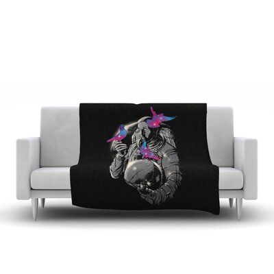 A Touch of Whimsy Throw Blanket Size: 90 L x 90 W