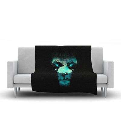 Silence Hunter Fleece Throw Blanket Size: 90 L x 90 W