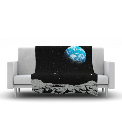 From The Moon Fleece Throw Blanket Size: 60 L x 50 W