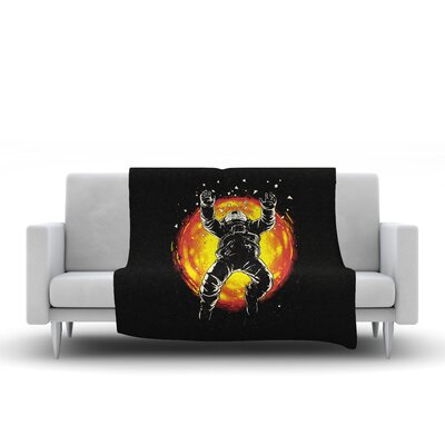 Lost in the Space Fleece Throw Blanket Size: 90 L x 90 W
