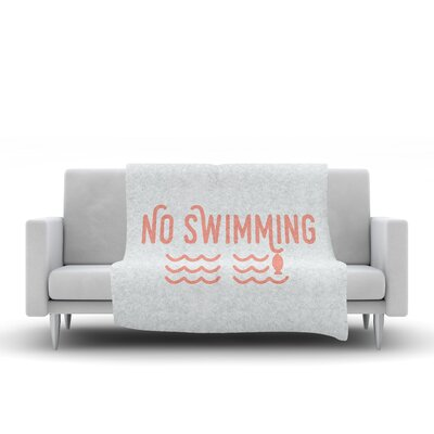 No Swimming Throw Blanket Size: 90 L x 90 W