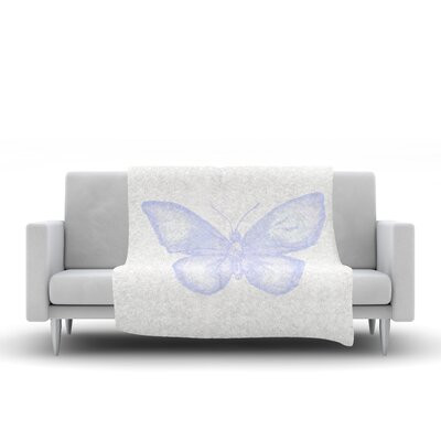 Butterfly Fleece Throw Blanket Size: 60 L x 50 W