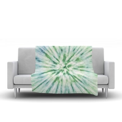 Spring Tie Dye Fleece Throw Blanket Size: 90 L x 90 W
