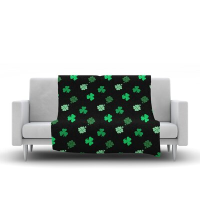 Shamrocks Fleece Throw Blanket Size: 90 L x 90 W