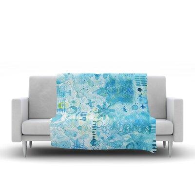 Floating Fleece Throw Blanket Size: 90 L x 90 W