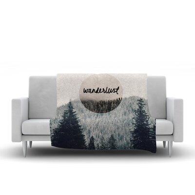 Wanderlust Fleece Throw Blanket Size: 80 L x 60 W