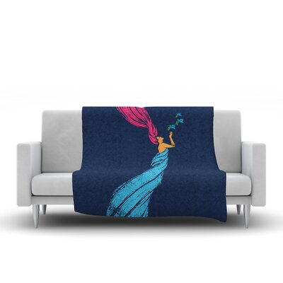 Fleece Throw Blanket Size: 90 L x 90 W