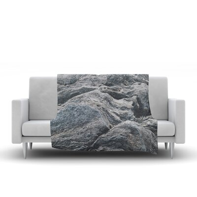 Stone Landscape Fleece Throw Blanket Size: 90 L x 90 W