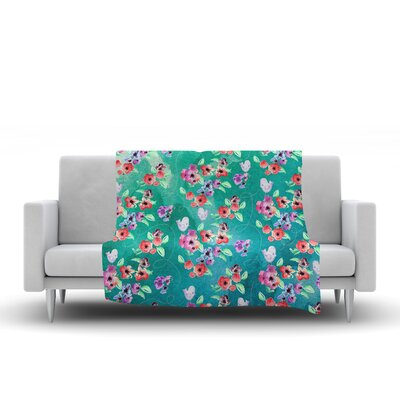 Spring Birds Fleece Throw Blanket Size: 60 L x 50 W