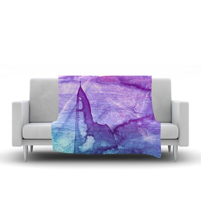 Blues Abstract Series 2 by Malia Shields Fleece Blanket