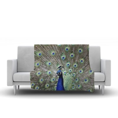 Peacock of Stunning Features by Qing Ji Fleece Blanket