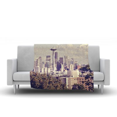 Space Needle by Sylvia Cook Fleece Blanket