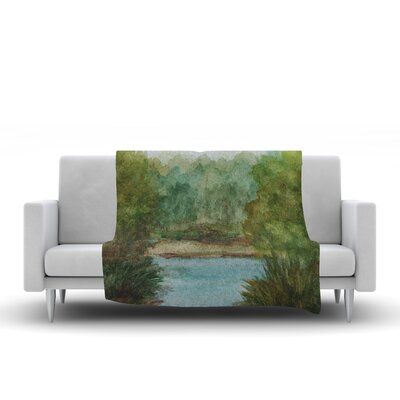 Lake Channel Throw Blanket Size: 90 L x 90 W