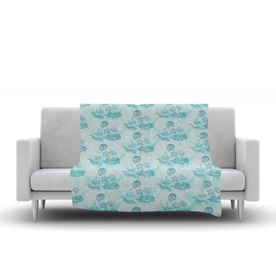 Ocean Fleece Throw Blanket Size: 90 L x 90 W