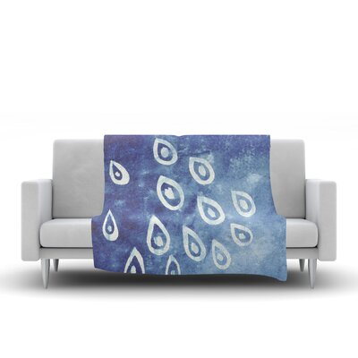 Drops Fleece Throw Blanket Size: 90 L x 90 W