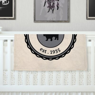Basset Hound Fleece Blanket Size: 80 L x 60 W
