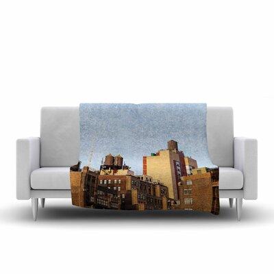Vintage NYC by Ann Barnes Fleece Blanket Size: 80 L x 60 W