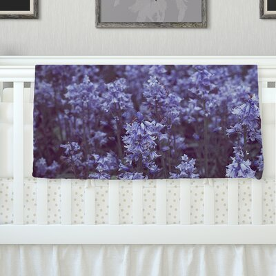 Bluebell Forest By Ann Barnes Flowers Fleece Blanket