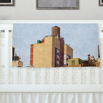 Vintage NYC By Ann Barnes  Cityscape Fleece Blanket