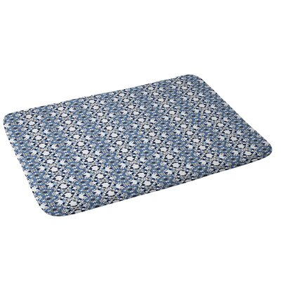 Blue Jewels Bath Rug