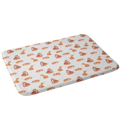 Fancy Foxes Bath Rug