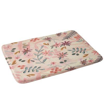 Feminine Floral Bath Rug