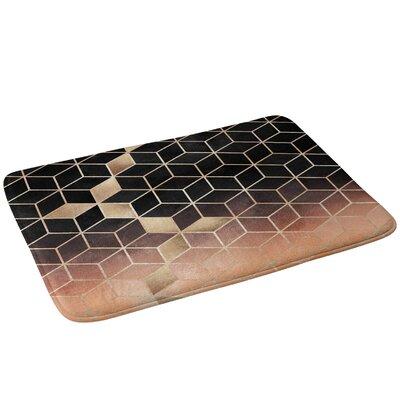 Ombre Cubes Bath Rug