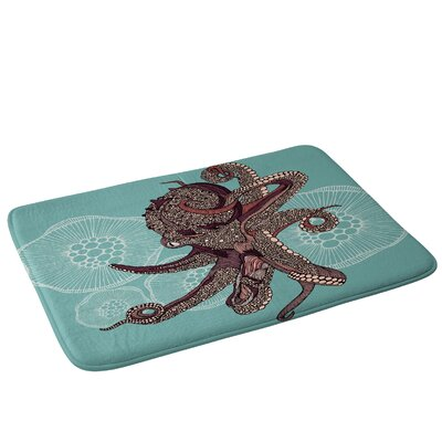 Octopus Bloom Bath Rug