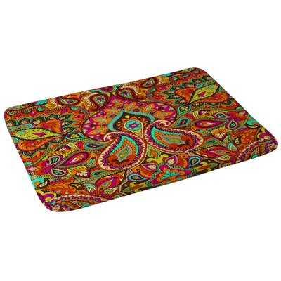 Paisley Orange Bath Rug