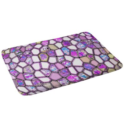 Cells Bath Rug Color: Violet