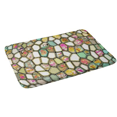 Cells Bath Rug Color: Yellow