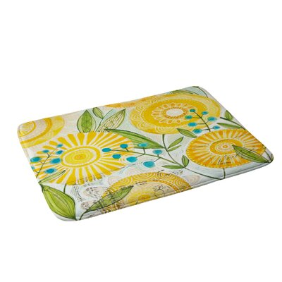 Sun Burst Flowers Bath Rug