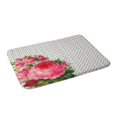 Floral Polka Dots Bath Rug