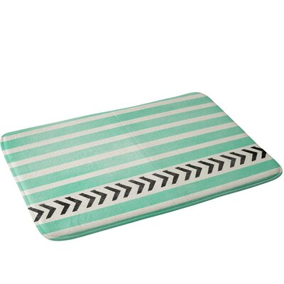Stripes And Arrows Bath Rug Color: Mint