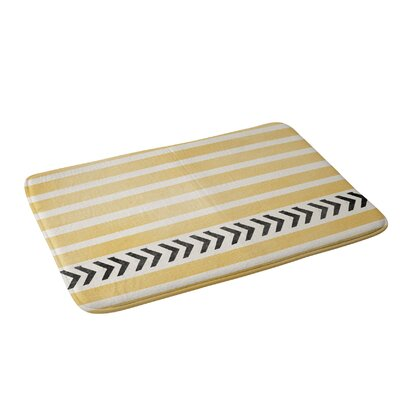Allyson Johnson Stripes And Arrows Bath Rug Color: Yellow