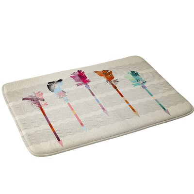 Feathered Arrows Bath Rug