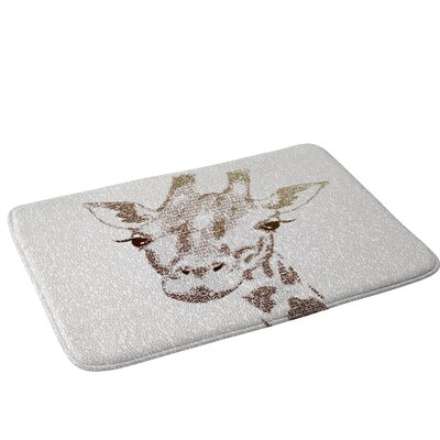 Belle13 The Intellectual Giraffe Bath Rug