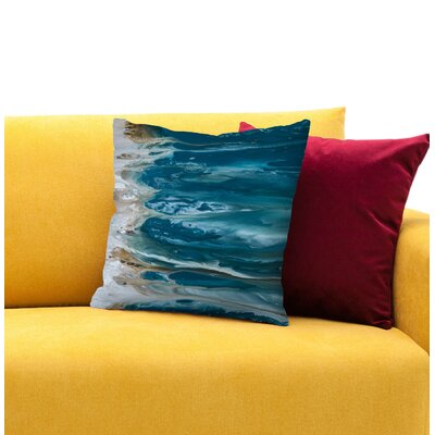 Ambiance of the Ocean Throw Pillow Size: 14 H x 14 W x 1.5 D
