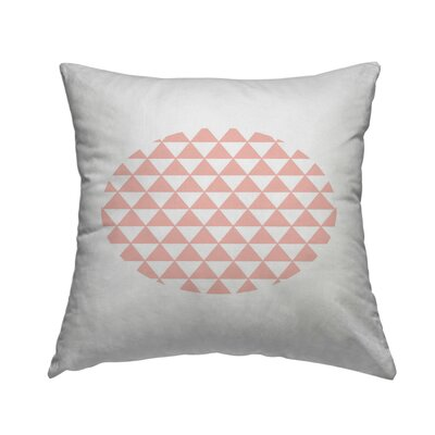 Triangle Coral Throw Pillow Size: 14 H x 14 W x 1.5 D
