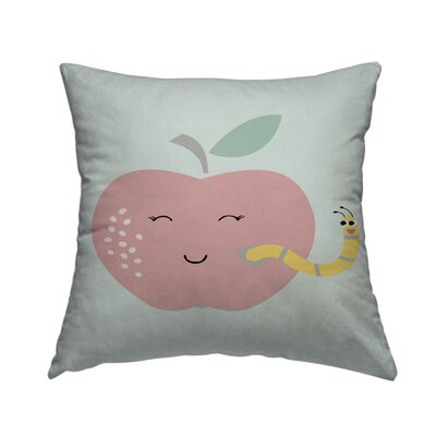 Worm Throw Pillow Size: 18 H x 18 W x 1.5 D
