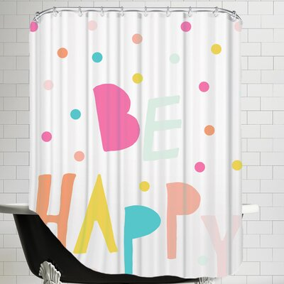 Behappy II Shower Curtain