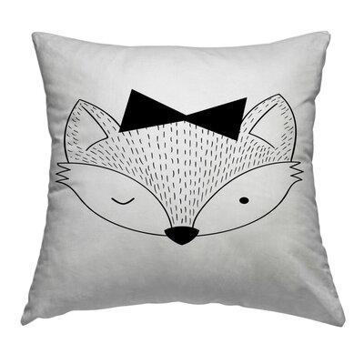 Fox Throw Pillow Size: 14 H x 14 W x 1.5 D