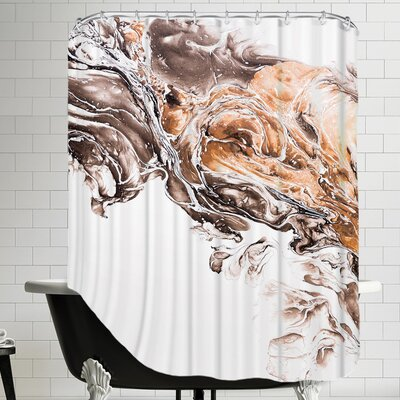 Graceful Billows Shower Curtain