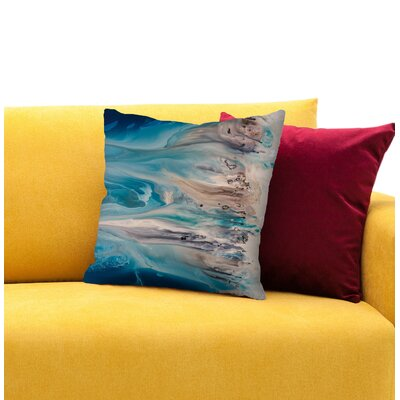 The Shore Beckons 2 Throw Pillow Size: 16 H x 16 W x 1.5 D