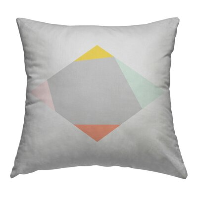 Square Throw Pillow Size: 18 H x 18 W x 1.5 D