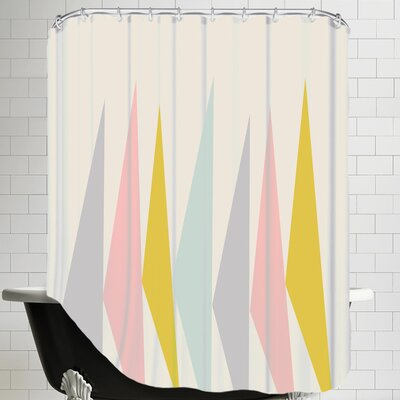 Pastel Triangle Shower Curtain